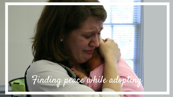 finding peace while adopting